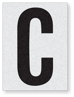 "Engineer Grade Vinyl Numbers 1.5"" Character Black on white C"