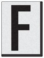 "Engineer Grade Vinyl Numbers 1.5"" Character Black on white F"