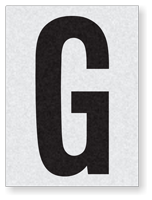 "Engineer Grade Vinyl Numbers 1.5"" Character Black on white G"