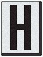 "Engineer Grade Vinyl Numbers 1.5"" Character Black on white H"