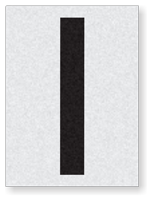 "Engineer Grade Vinyl Numbers 1.5"" Character Black on white I"