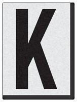 """Engineer Grade Vinyl Numbers 1.5"""" Character Black on white K"""