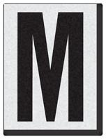 """Engineer Grade Vinyl Numbers 1.5"""" Character Black on white M"""