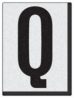 "Engineer Grade Vinyl Numbers 1.5"" Character Black on white Q"