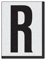 """Engineer Grade Vinyl Numbers 1.5"""" Character Black on white R"""
