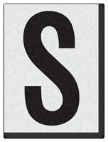 "Engineer Grade Vinyl Numbers 1.5"" Character Black on white S"