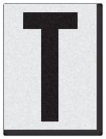 "Engineer Grade Vinyl Numbers 1.5"" Character Black on white T"