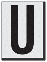 """Engineer Grade Vinyl Numbers 1.5"""" Character Black on white U"""