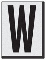 "Engineer Grade Vinyl Numbers 1.5"" Character Black on white W"