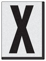 "Engineer Grade Vinyl Numbers 1.5"" Character Black on white X"
