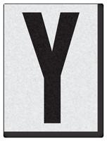 """Engineer Grade Vinyl Numbers 1.5"""" Character Black on white Y"""
