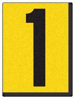 "Engineer Grade Vinyl Numbers 1.5"" Character Black on yellow 1"