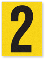 "Engineer Grade Vinyl Numbers 1.5"" Character Black on yellow 2"