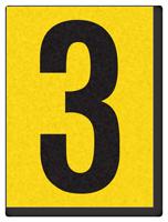 "Engineer Grade Vinyl Numbers 1.5"" Character Black on yellow 3"