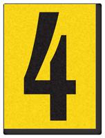 "Engineer Grade Vinyl Numbers 1.5"" Character Black on yellow 4"