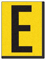 "Engineer Grade Vinyl Numbers 1.5"" Character Black on yellow E"