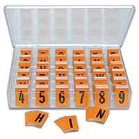 Reflective Vinyl Numbers and Letters Kit 1 Inch Tall Black and Orange