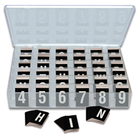 Reflective Vinyl Numbers and Letters Kit 1 Inch Tall White and Black