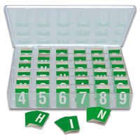 Reflective Vinyl Numbers and Letters Kit 1 Inch Tall White and Green