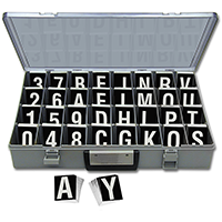 Reflective Vinyl Numbers and Letters Kit 2.5 Inch Tall White and Black