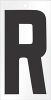 Self-Aligning Die-Cut 3 Inch Tall Vinyl Letter R Black
