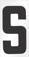 Self-Aligning Die-Cut 3 Inch Tall Vinyl Letter S Black