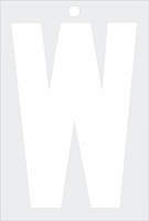Self-Aligning Die-Cut 3 Inch Tall Vinyl Letter W White