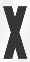 Self-Aligning Die-Cut 3 Inch Tall Vinyl Letter X Black
