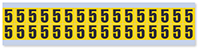 Small Vinyl Cloth Number '5' Label, 0.625 Inch