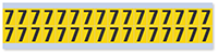 Small Vinyl Cloth Number '7' Label, 0.625 Inch