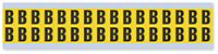 Small Vinyl Cloth Letter 'B' Label, 0.625 Inch