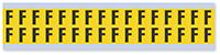 Small Vinyl Cloth Letter 'F' Label, 0.625 Inch