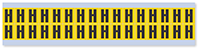 Small Vinyl Cloth Letter 'H' Label, 0.625 Inch