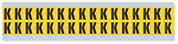 Small Vinyl Cloth Letter 'K' Label, 0.625 Inch