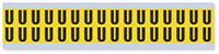 Small Vinyl Cloth Letter 'U' Label, 0.625 Inch