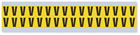 Small Vinyl Cloth Letter 'V' Label, 0.625 Inch