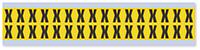 Small Vinyl Cloth Letter 'X' Label, 0.625 Inch