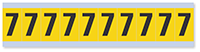 1 Inch Height Number '7' Vinyl Cloth Label