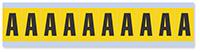 Alphabet 'A' Vinyl Cloth Label, 1 Inch