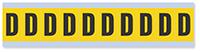 Alphabet 'D' Vinyl Cloth Label, 1 Inch