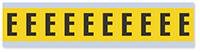 Alphabet 'E' Vinyl Cloth Label, 1 Inch