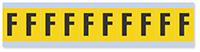 Alphabet 'F' Vinyl Cloth Label, 1 Inch