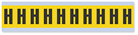 Alphabet 'H' Vinyl Cloth Label, 1 Inch