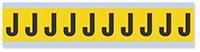 Alphabet 'J' Vinyl Cloth Label, 1 Inch
