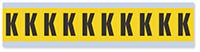 Alphabet 'K' Vinyl Cloth Label, 1 Inch