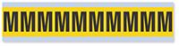Alphabet 'M' Vinyl Cloth Label, 1 Inch
