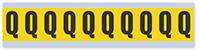 Alphabet 'Q' Vinyl Cloth Label, 1 Inch