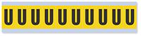 Alphabet 'U' Vinyl Cloth Label, 1 Inch