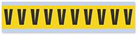 Alphabet 'V' Vinyl Cloth Label, 1 Inch