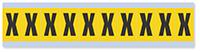 Alphabet 'X' Vinyl Cloth Label, 1 Inch